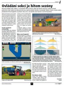 Ovládání sekcí v klínech s rozmetadly průmyslových hnojiv Bogballe a navigací iZURF