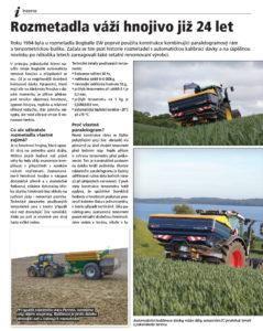 Váhový systém rozmetadel průmyslových hnojiv, sklonoměr, akcelerometr, automatická kalibrace.