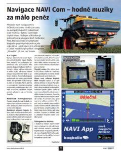 Navigace NAVI Com - automatická úprava záběru v klínech a start / stop na souvratích